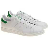 Tenisi & Adidasi White And Green Stan Smith Sneakers Barbati