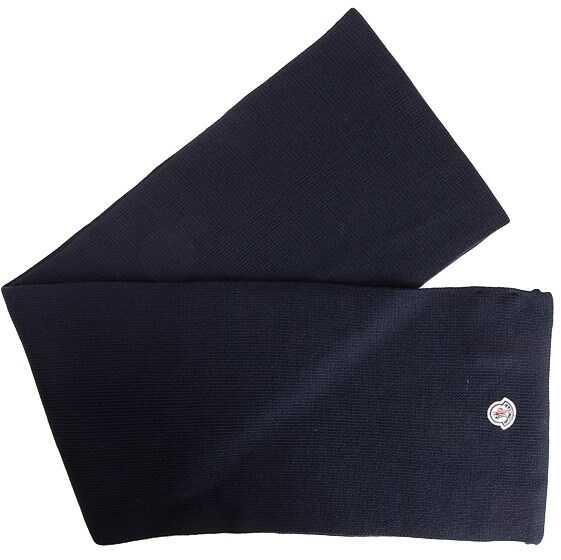 Moncler Wool Scarf Blue