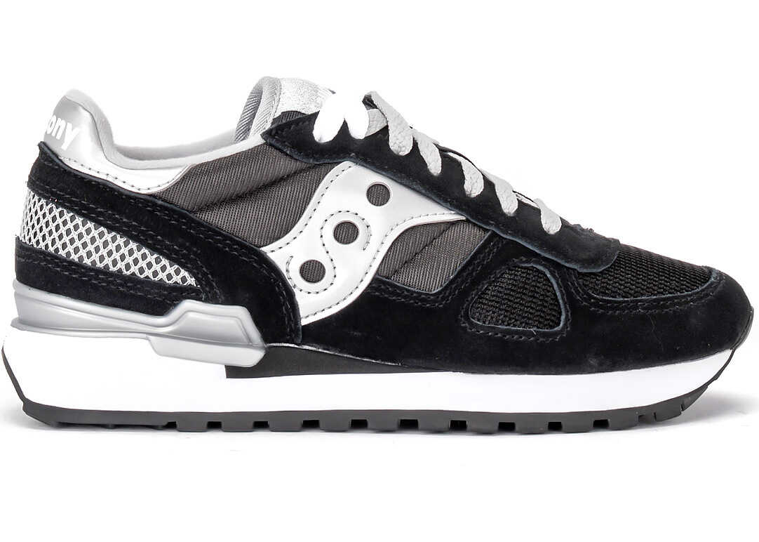 Saucony Sneaker Saucony Shadow In Black Suede And Mesh Black