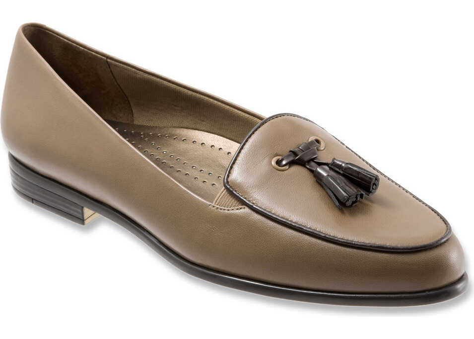 Trotters Leana* Dk Taupe/Dk Brown Burnished Soft Kid/Patent