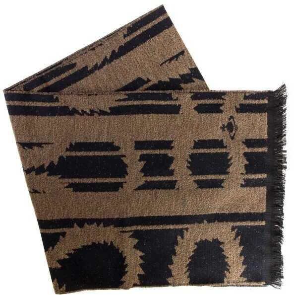 Vivienne Westwood Wool Scarf Brown