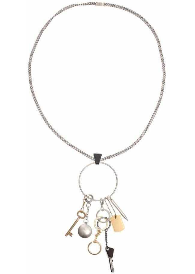 Maison Margiela Brass Necklace Silver