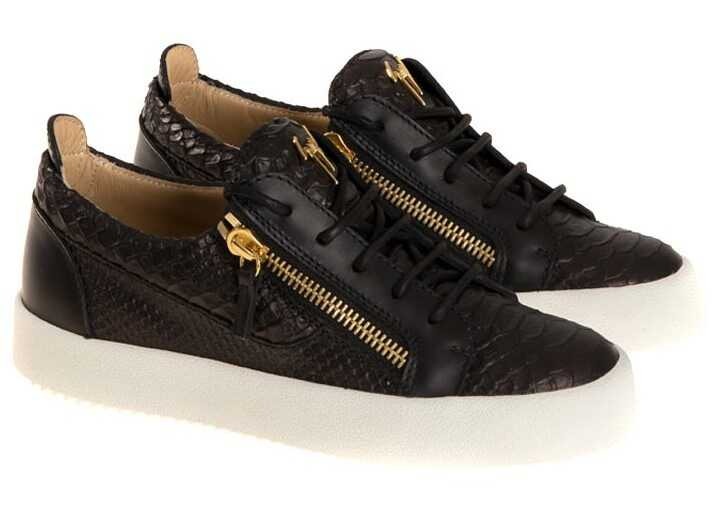 Giuseppe Zanotti Leather Sneakers Black
