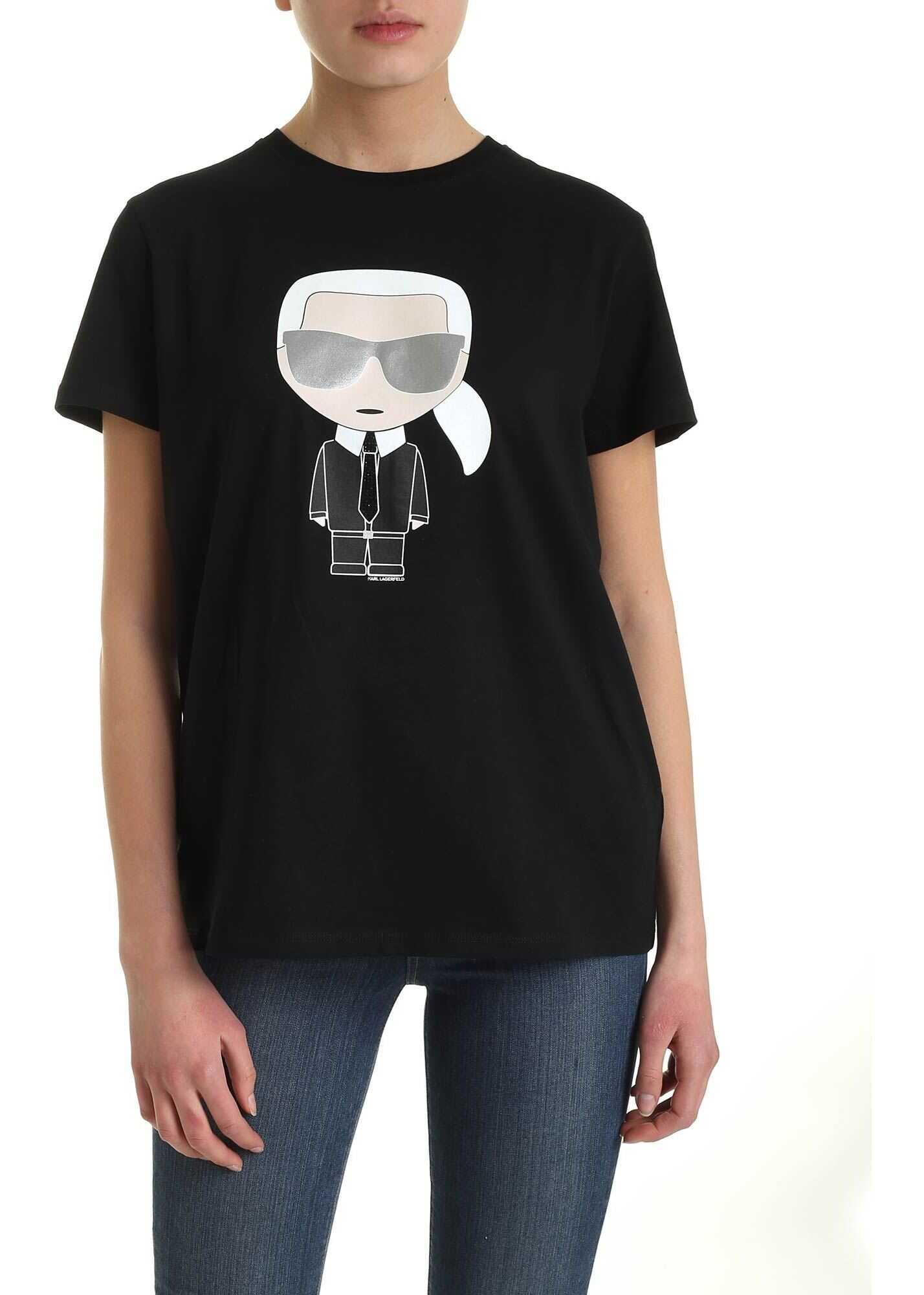 Tricou Femei Karl Lagerfeld Ikonik Karl T-shirt Bl