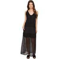 Rochii Sleeveless Long Lace Sheer Dress Femei
