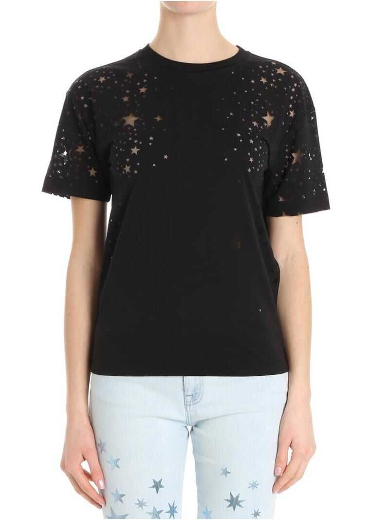 adidas by Stella McCartney Stars Embroidery T-Shirt Black