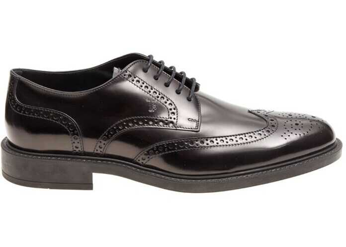 TOD'S Derby Brogue Shoes XXM45A00C10AKTB999 Black imagine b-mall.ro
