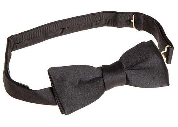 Ermenegildo Zegna Silk Bow Tie Black