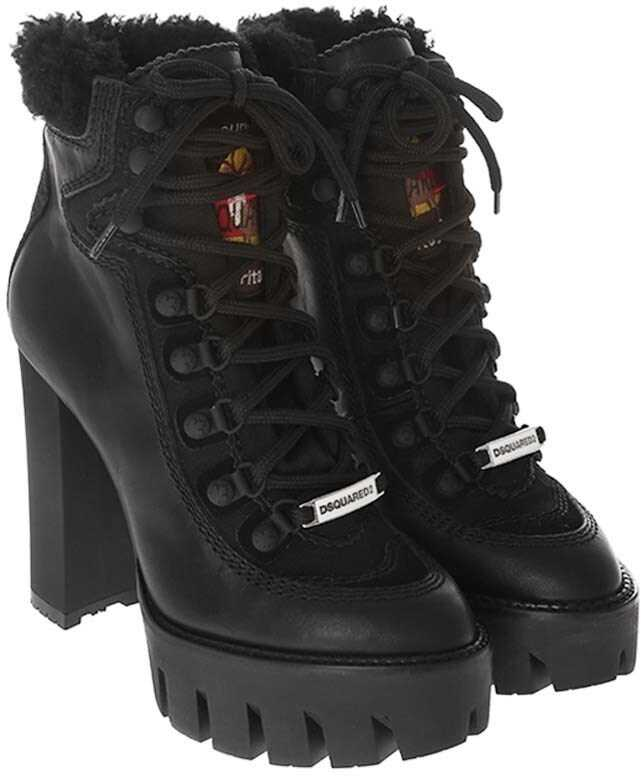DSQUARED2 Canada Hiking Ankle Boots Black