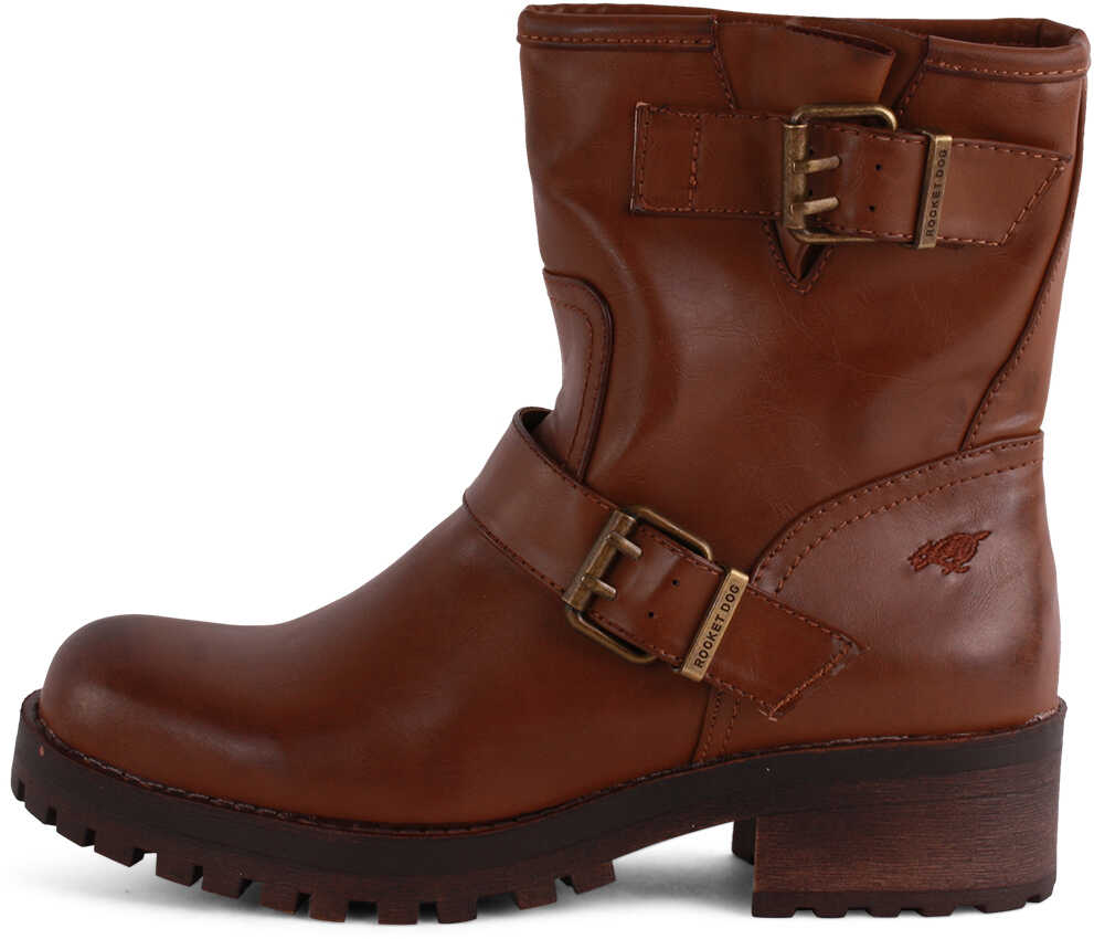 Rocket Dog Louis Biker Boots In Dark Brown* Brown