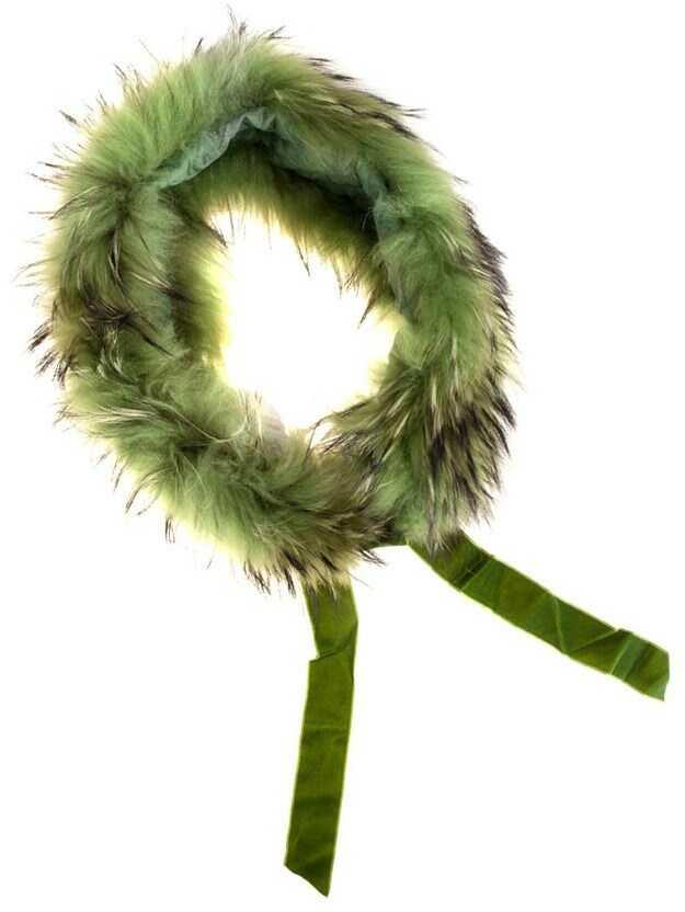 Blugirl Fur Collar Green