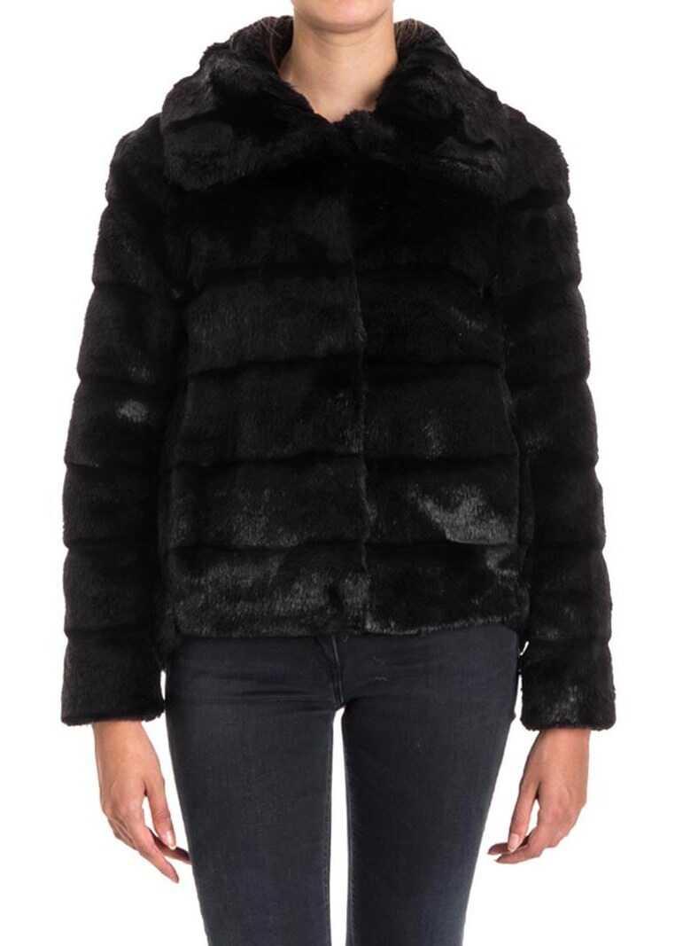 Twin-set Simona Barbieri Eco-Fur Jacket Black