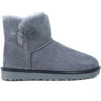 Ghete & Cizme Mini Bailey Button Grey Sheepskin Ankle Boots Femei
