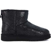 Ghete & Cizme Classic Mini Glitzy Reptile Leather Effect Suede Ankle Boots Femei