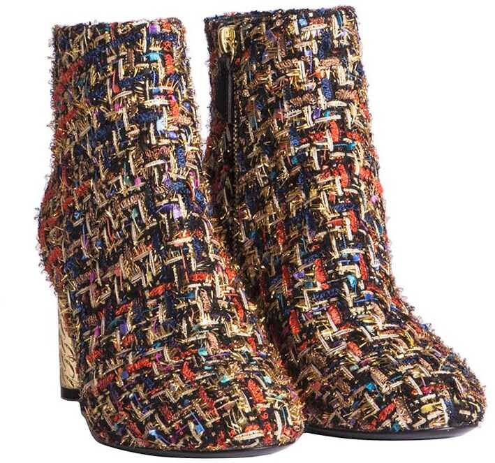 Casadei Wool Ankle Boots Multi