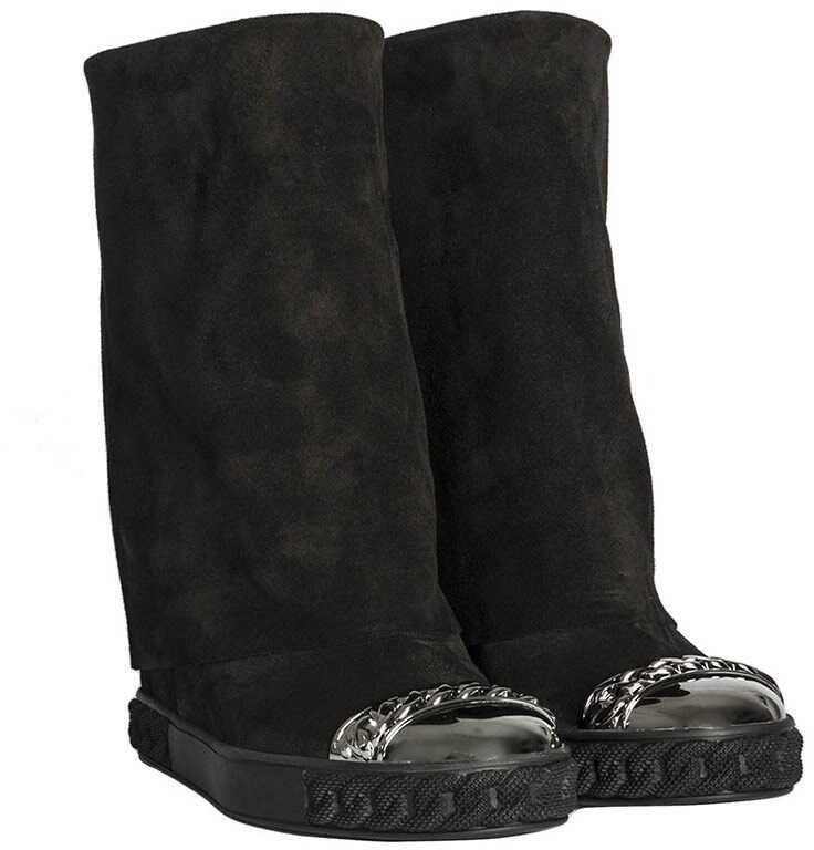 Casadei Suede Boots Black