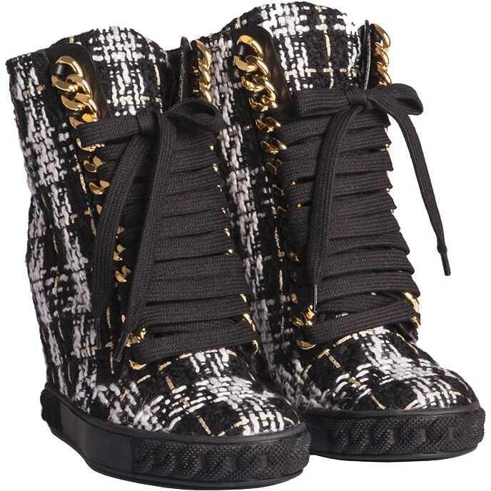 Casadei Bouclé Boots Black