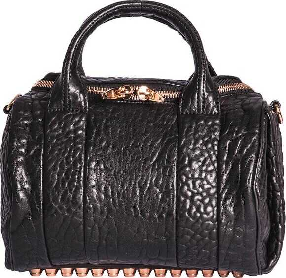 Alexander Wang Rockie Handbag In Black Leather Black