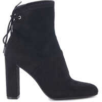 Ghete & Cizme Enact Black Suede Leather Ankle Boots Femei