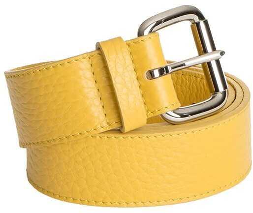 Orciani Leather Belt* Yellow