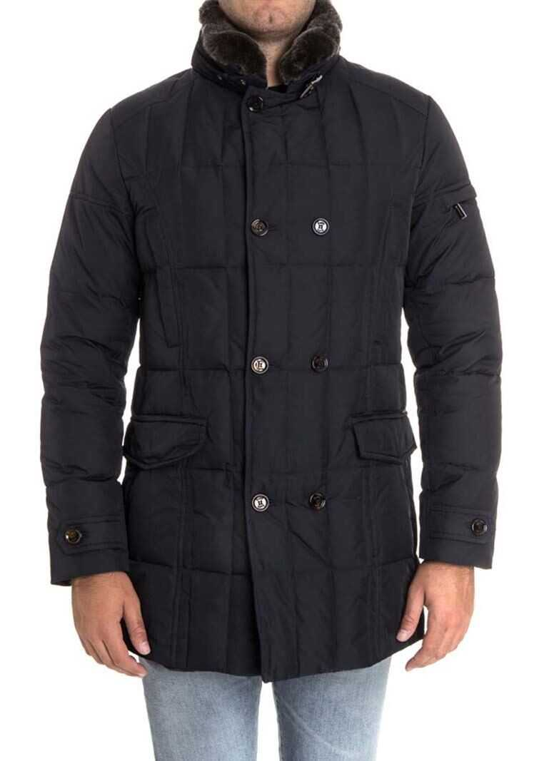 Moorer Morris Down Jacket In Blue Blue imagine