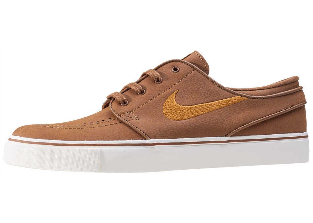 Nike Sb Nike Skateboarding Zoom Stefan Janoski Trainers In Tan* Tan