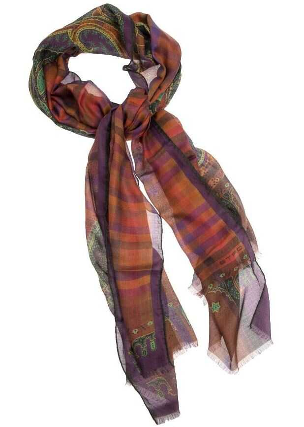 ETRO Modal And Cashmere Scarf Multi