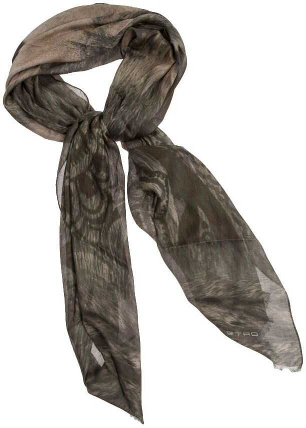 ETRO Modal And Cashmere Scarf Green