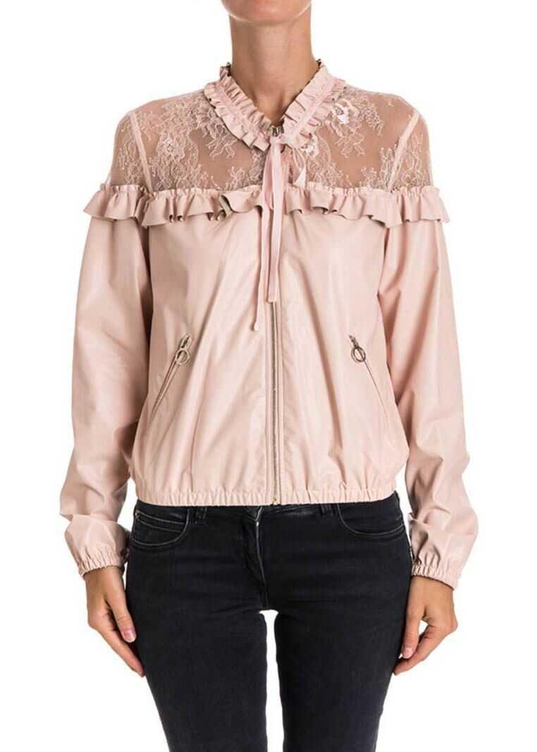 Pinko Tacuma Bomber Jacket Pink