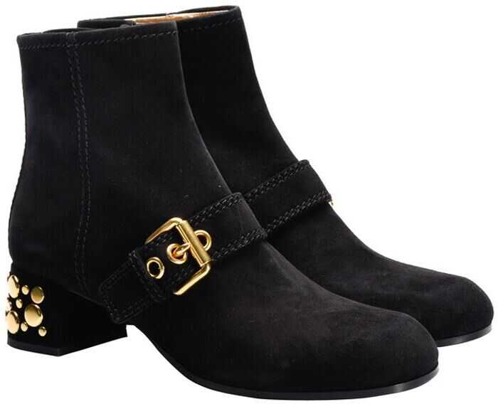 Car Shoe Suede Ankle Boots Black