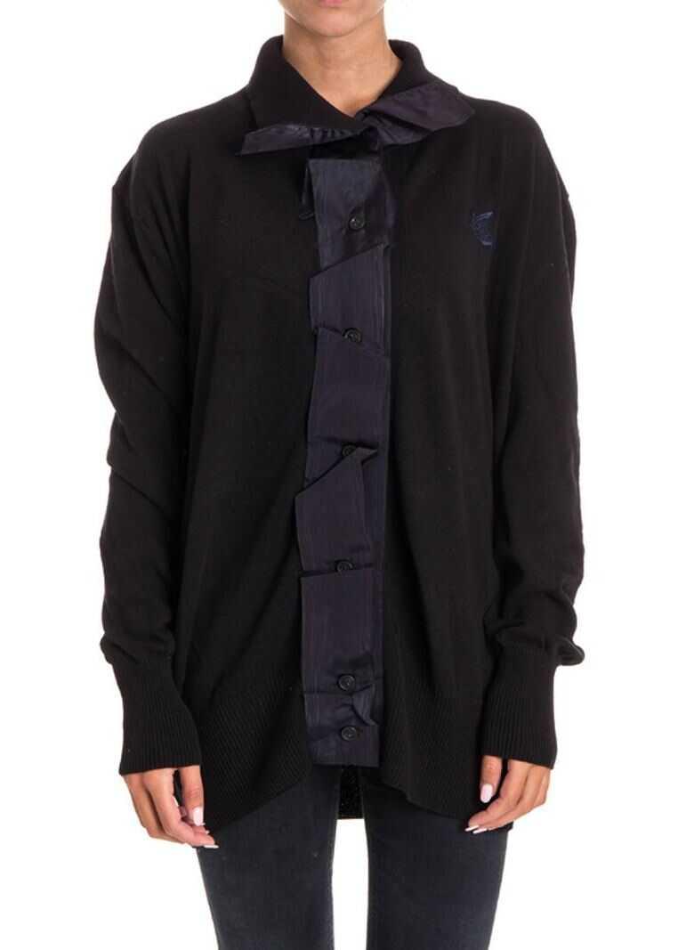 Vivienne Westwood Anglomania Cotton Blend Cardigan Black