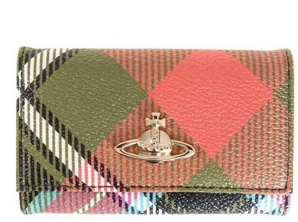 Vivienne Westwood Coated Fabric Keychain Multi