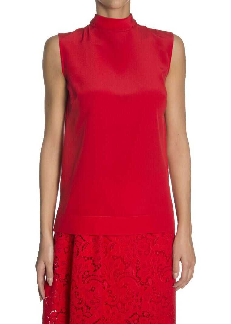 Ermanno Scervino Silk Blouse Red