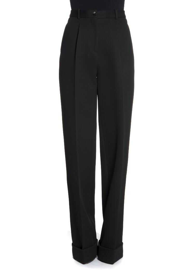 Ermanno Scervino Viscose And Wool Trousers Black