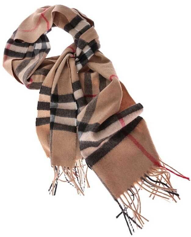 Burberry Giant Icon Camel Colored Scarf Camel