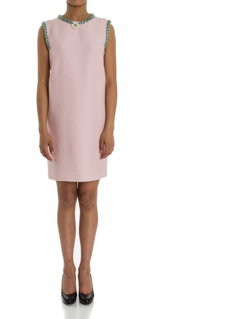 Miu Miu Sheath Dress Pink