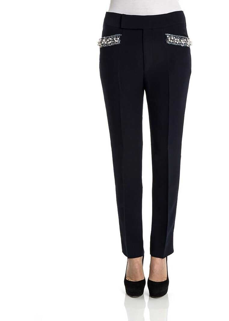 Miu Miu Straight Trousers Blue