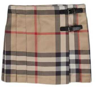 Burberry Wrap Skirt Beige