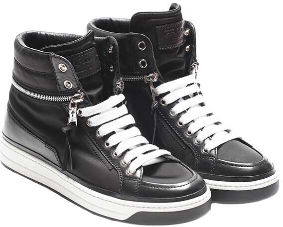 Prada Leather Sneakers Black