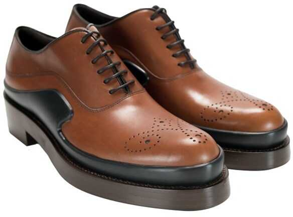 Prada Leather Shoes Brown