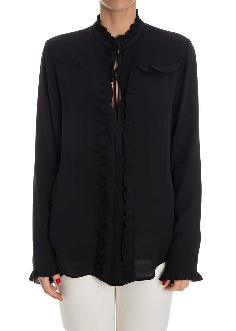 Balenciaga Silk Shirt Black