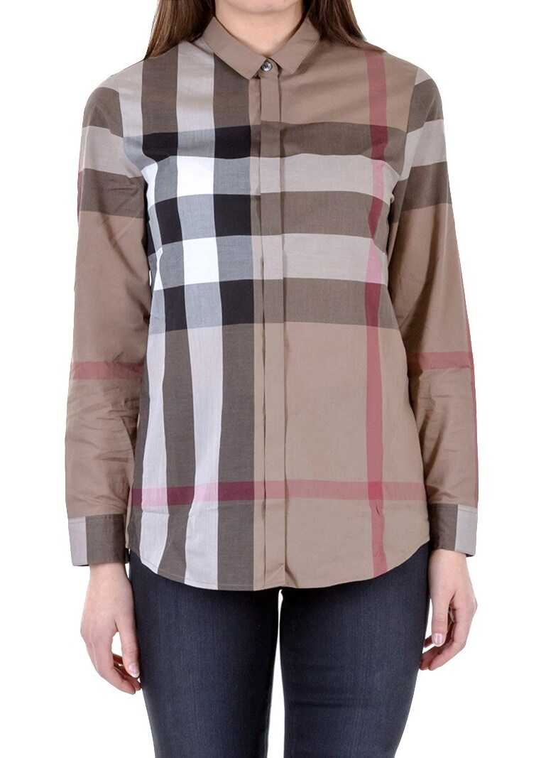 Burberry Cotton Shirt Brown