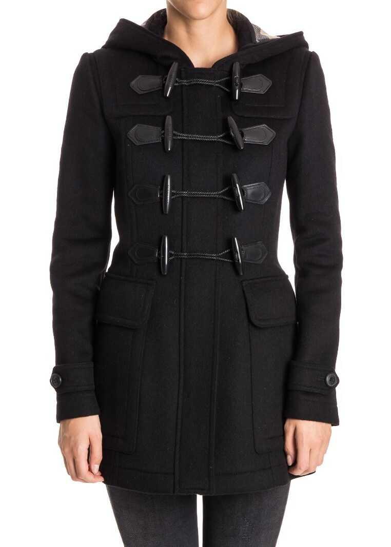 Burberry Wool Montgomery Black