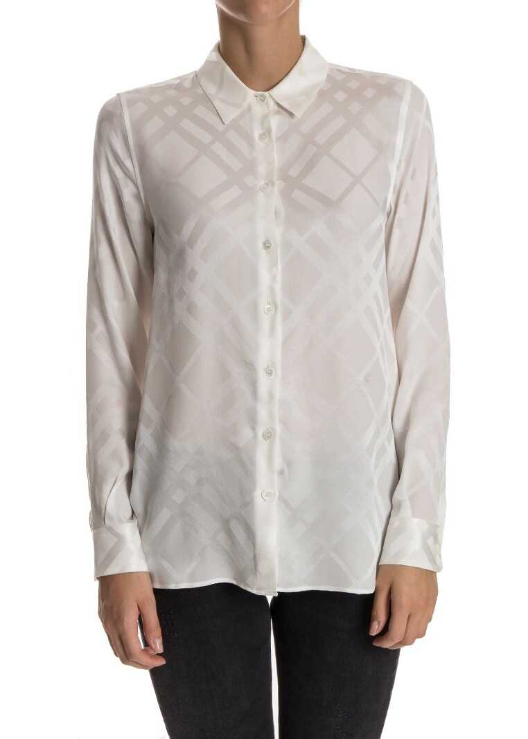 Burberry Silk Shirt White