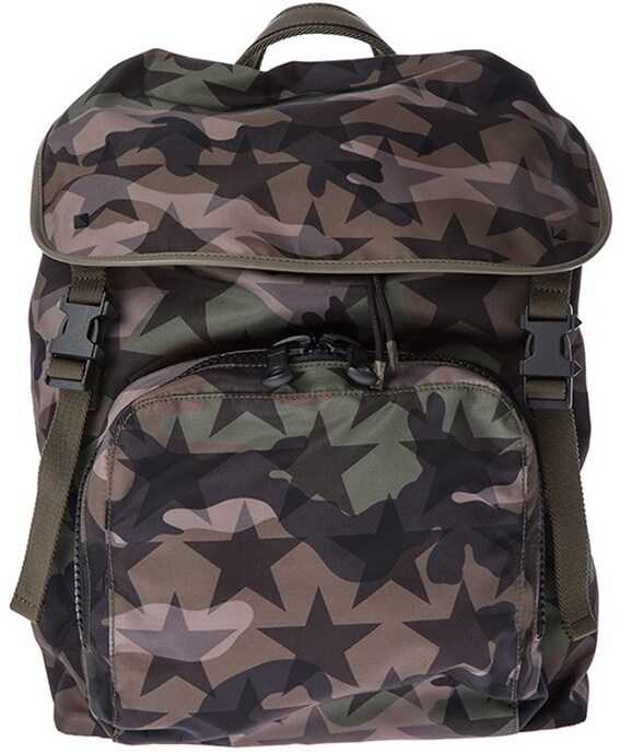 Valentino Garavani Camustars Backpack Green