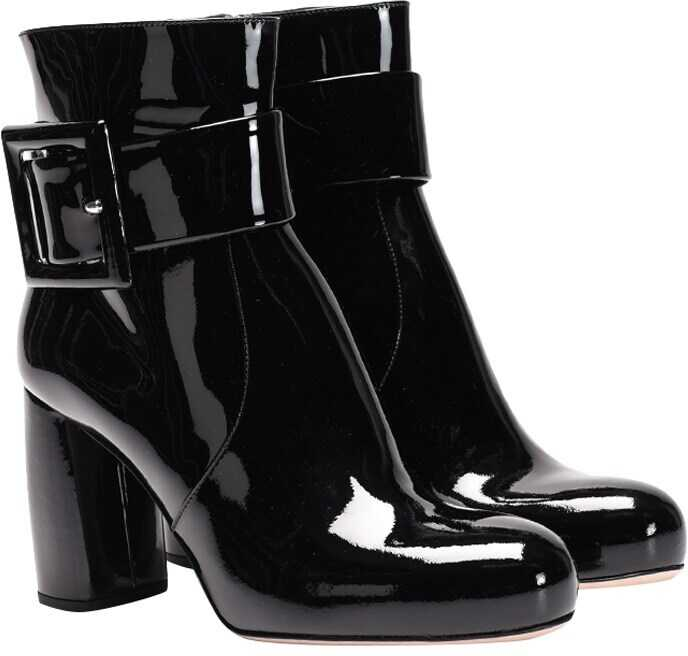 Miu Miu Leather Boots Black