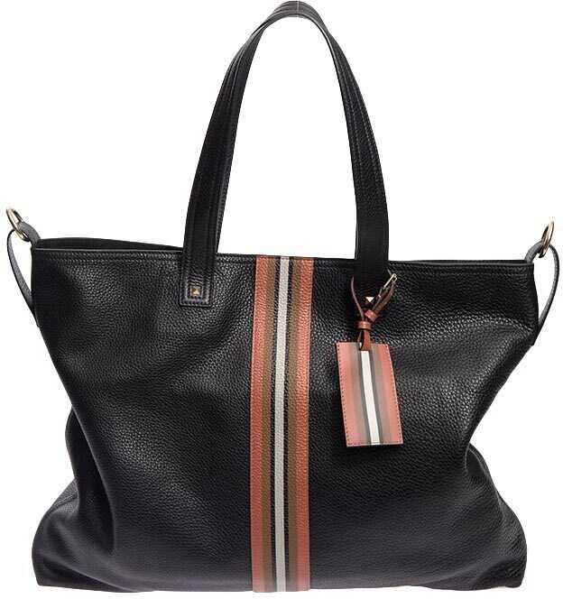 Valentino Garavani Hammered Leather Bag Black