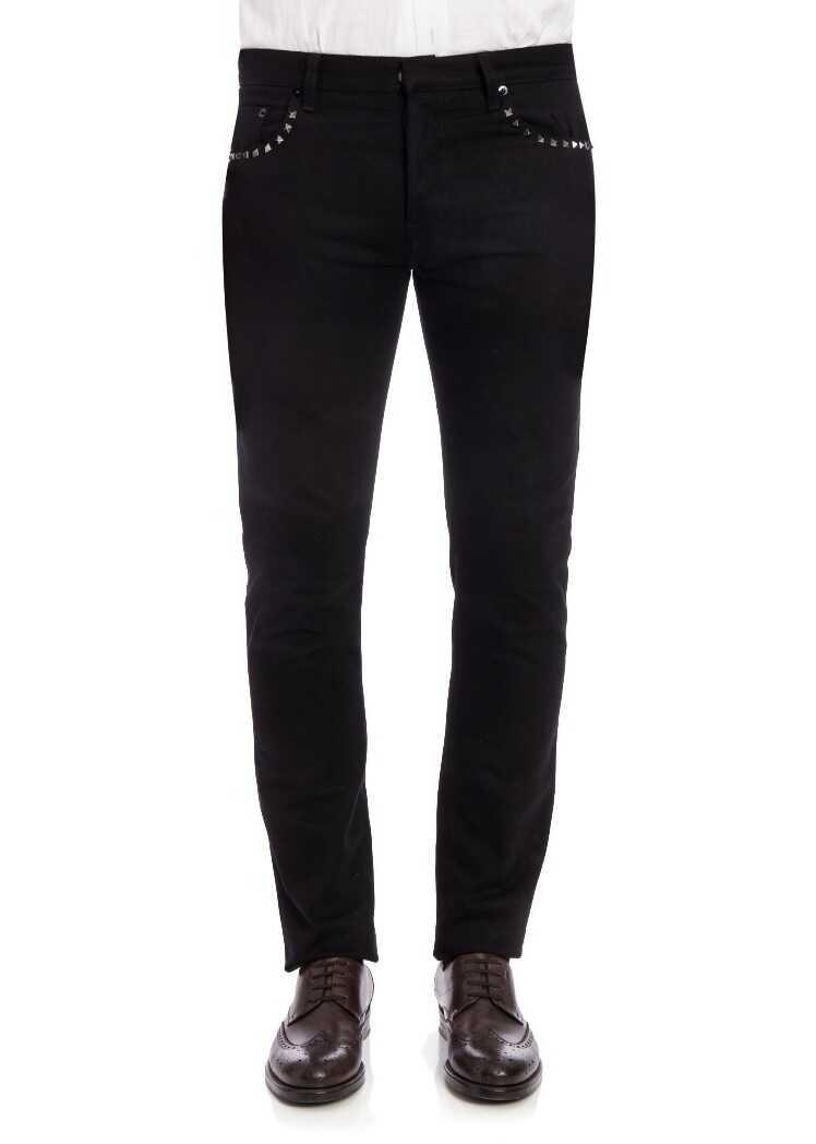 Valentino Garavani 5 Pockets Jeans Black