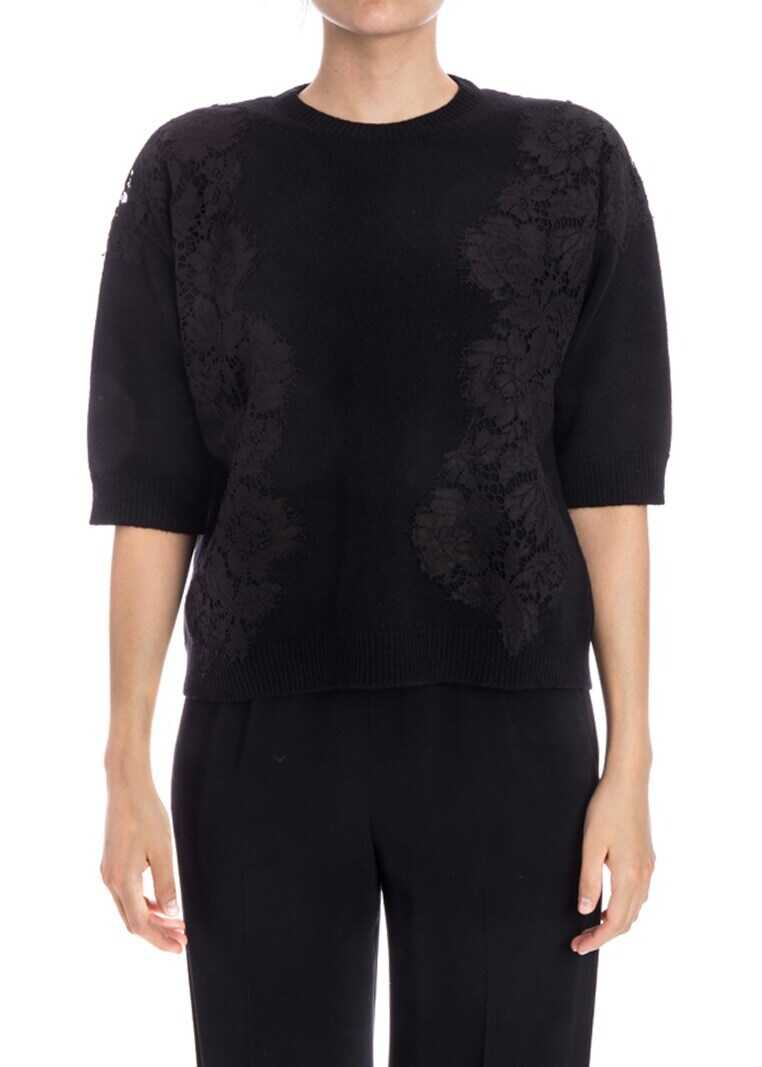 Valentino Garavani Wool And Cashmere Sweater Black