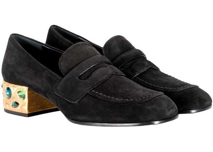 Prada Suede Shoes Black